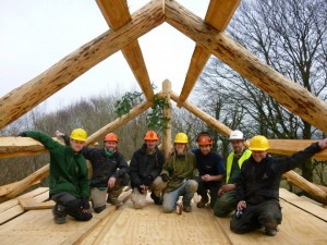 Longwood Community woodland building team